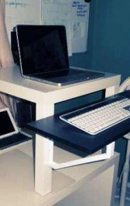 another cheap portable ikea standing desk