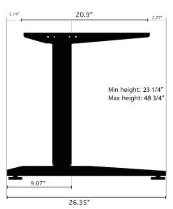 Jarvis Standing Desk Dimenions